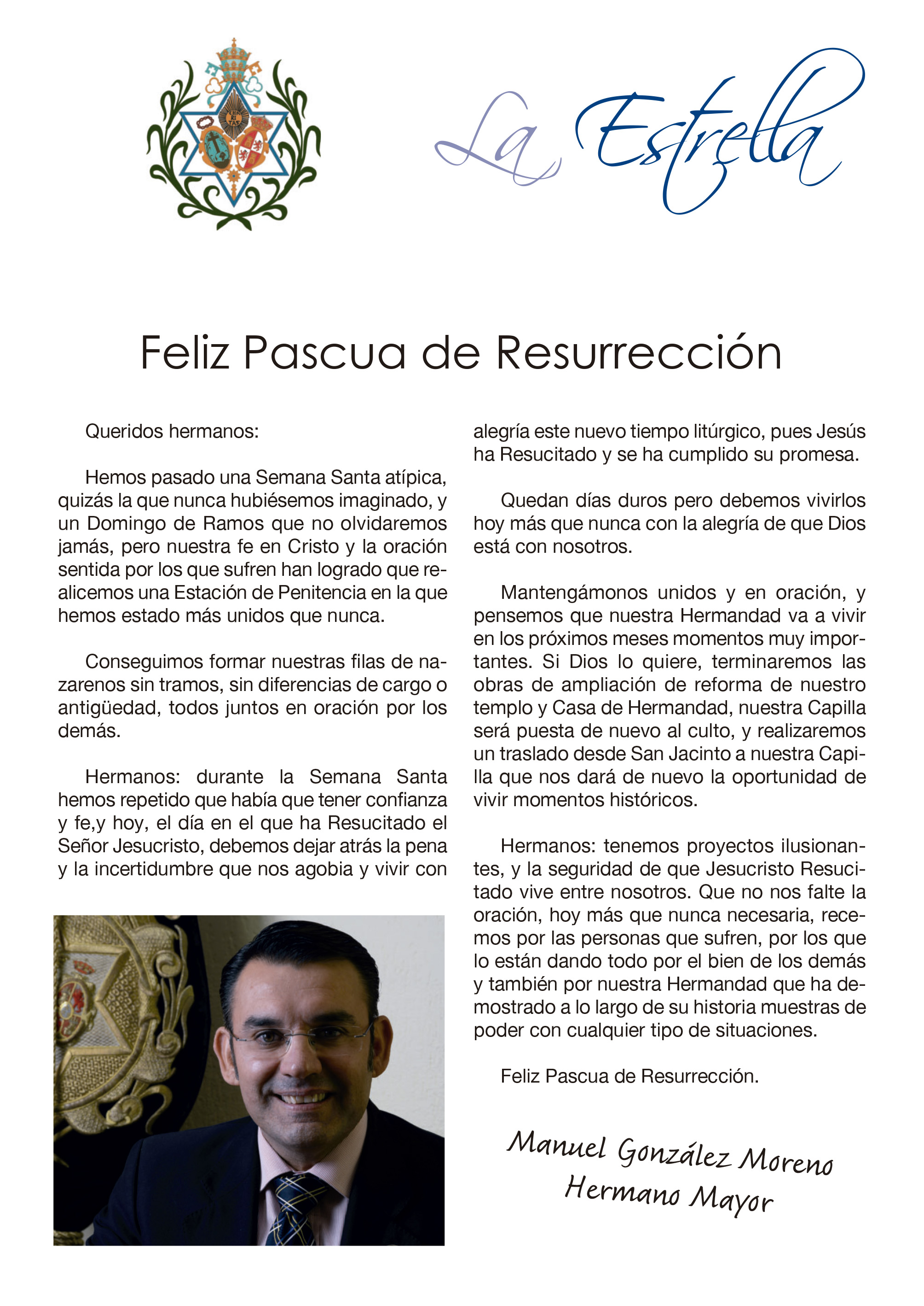 20200412 Carta Hermano Mayor Pascua